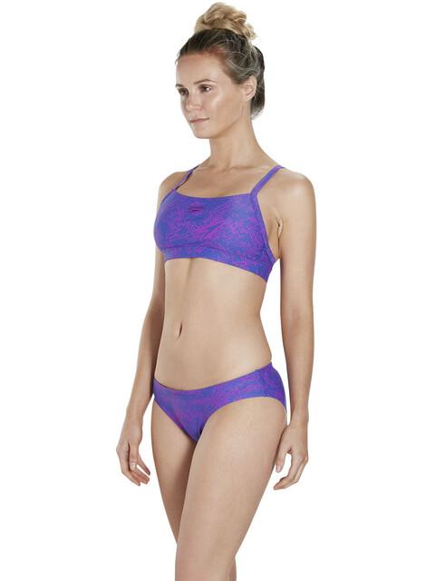 speedo Boom Allover 2 Piece Bikini Women Ultramarine/Diva